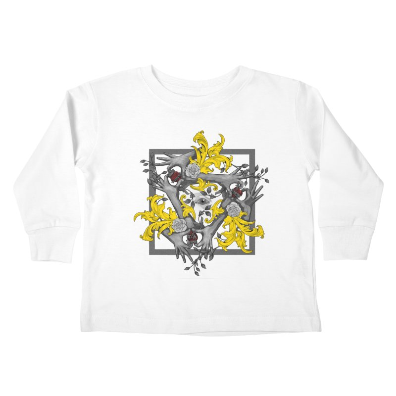 Hands and Hearts Kids Toddler Longsleeve T-Shirt by erdavid's Artist Shop