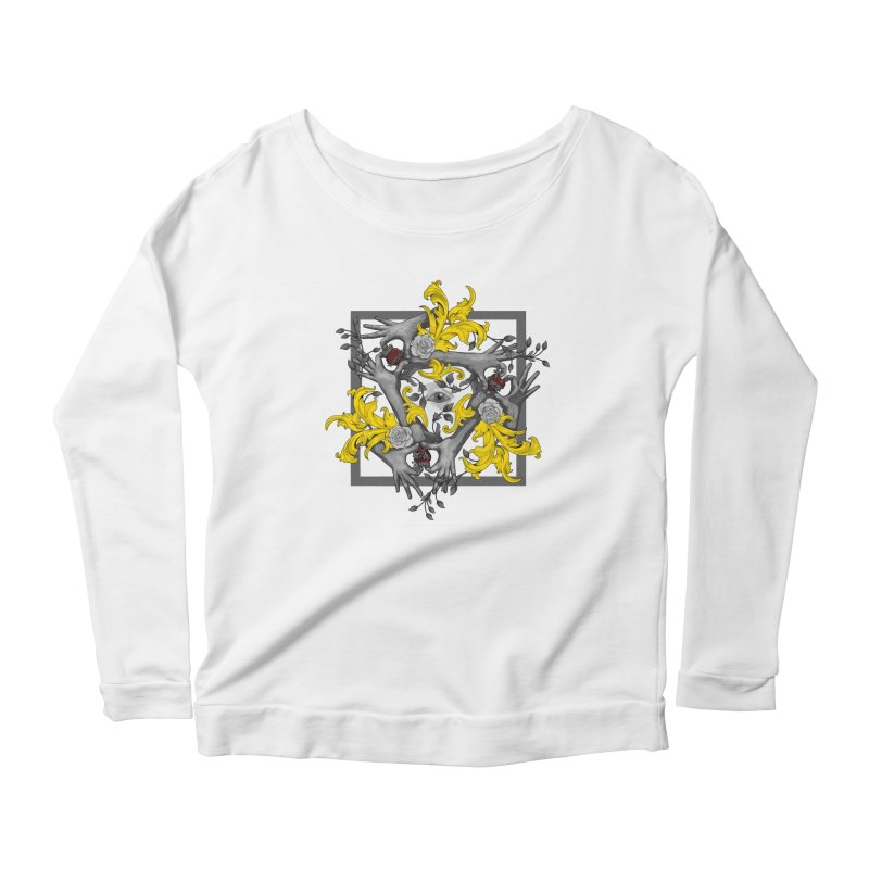 Hands and Hearts Women's Longsleeve Scoopneck  by erdavid's Artist Shop