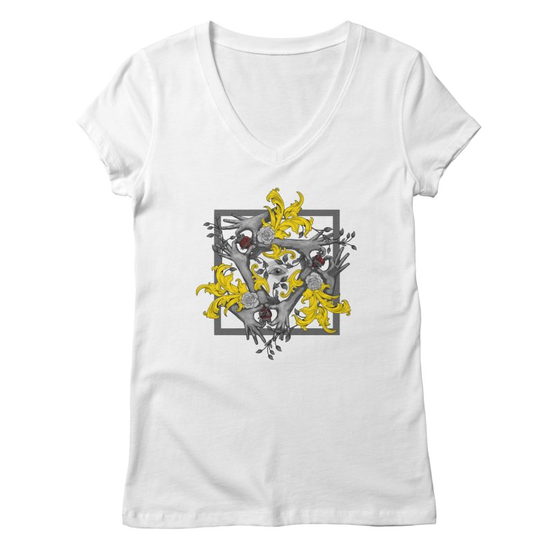 Hands and Hearts Women's V-Neck by erdavid's Artist Shop
