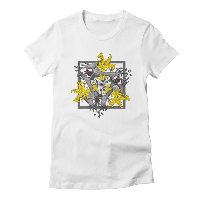 Hands and Hearts Women's Fitted T-Shirt by erdavid's Artist Shop