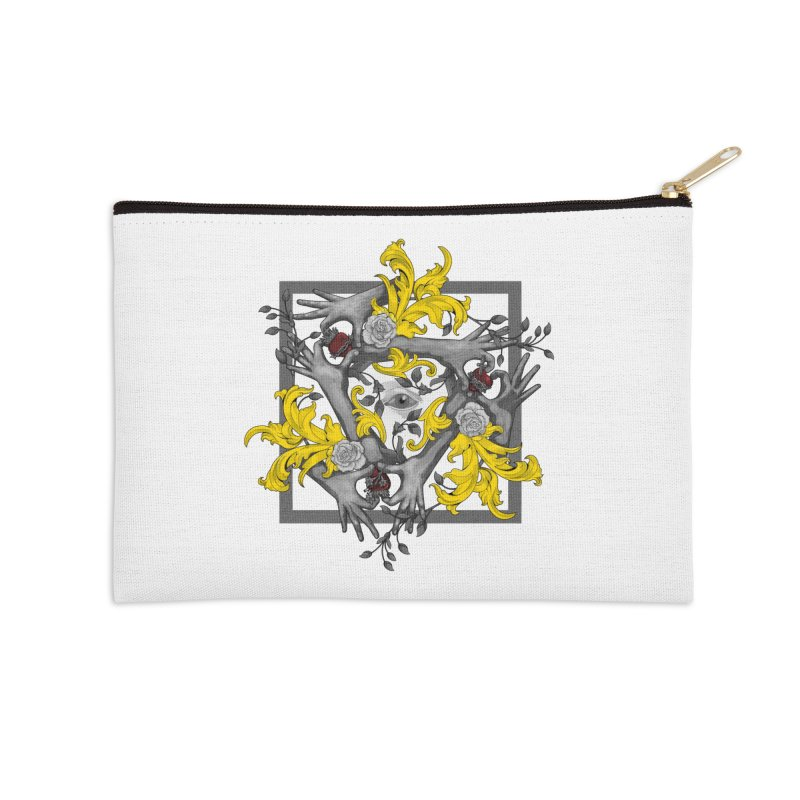 Hands and Hearts Accessories Zip Pouch by erdavid's Artist Shop