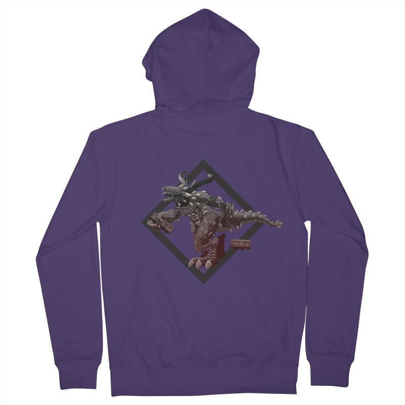 Kaiju Women's Zip-Up Hoody by erdavid's Artist Shop