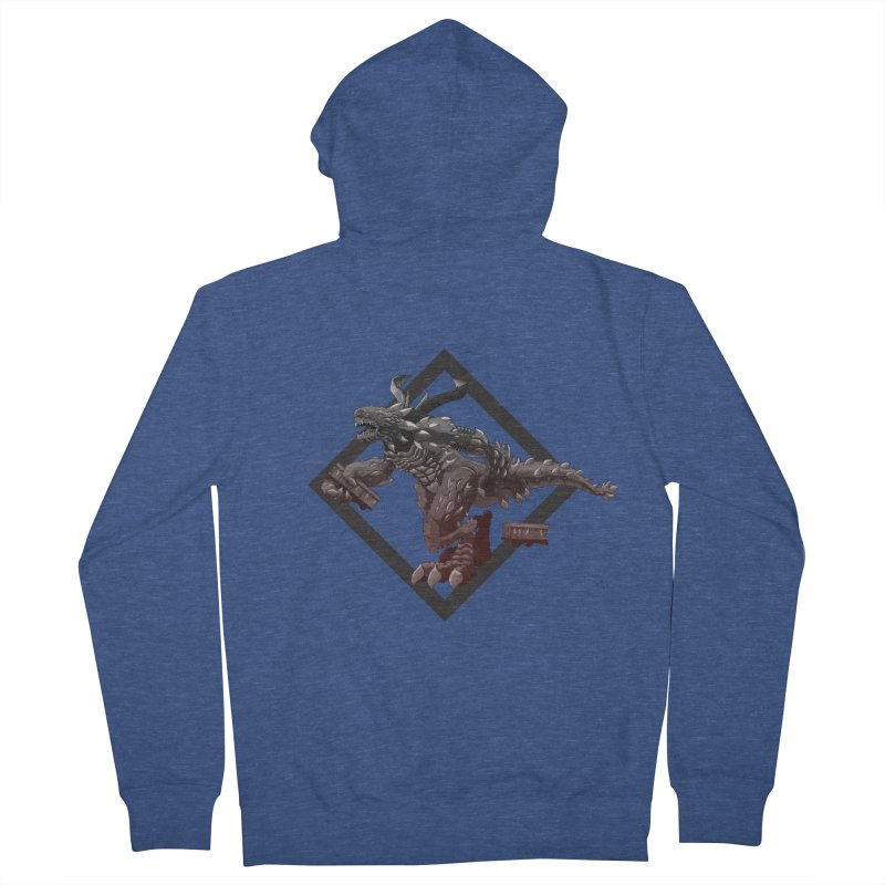 Kaiju Men's Zip-Up Hoody by erdavid's Artist Shop