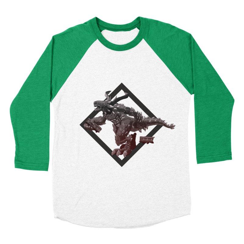 Kaiju Men's Baseball Triblend T-Shirt by erdavid's Artist Shop