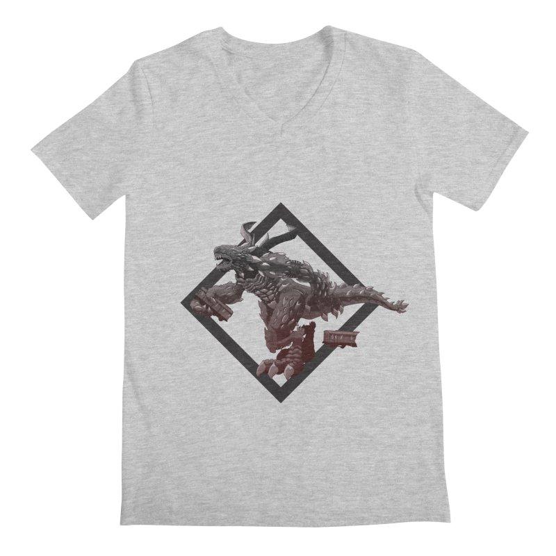 Kaiju Men's V-Neck by erdavid's Artist Shop