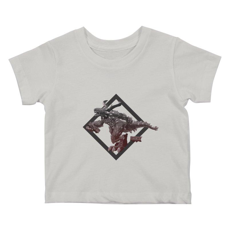 Kaiju Kids Baby T-Shirt by erdavid's Artist Shop