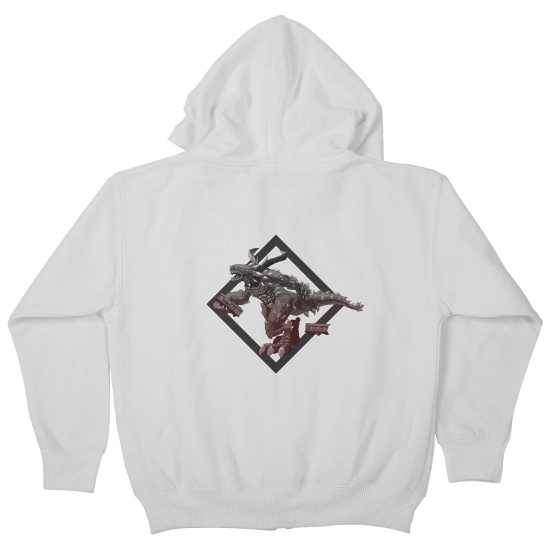 Kaiju Kids Zip-Up Hoody by erdavid's Artist Shop