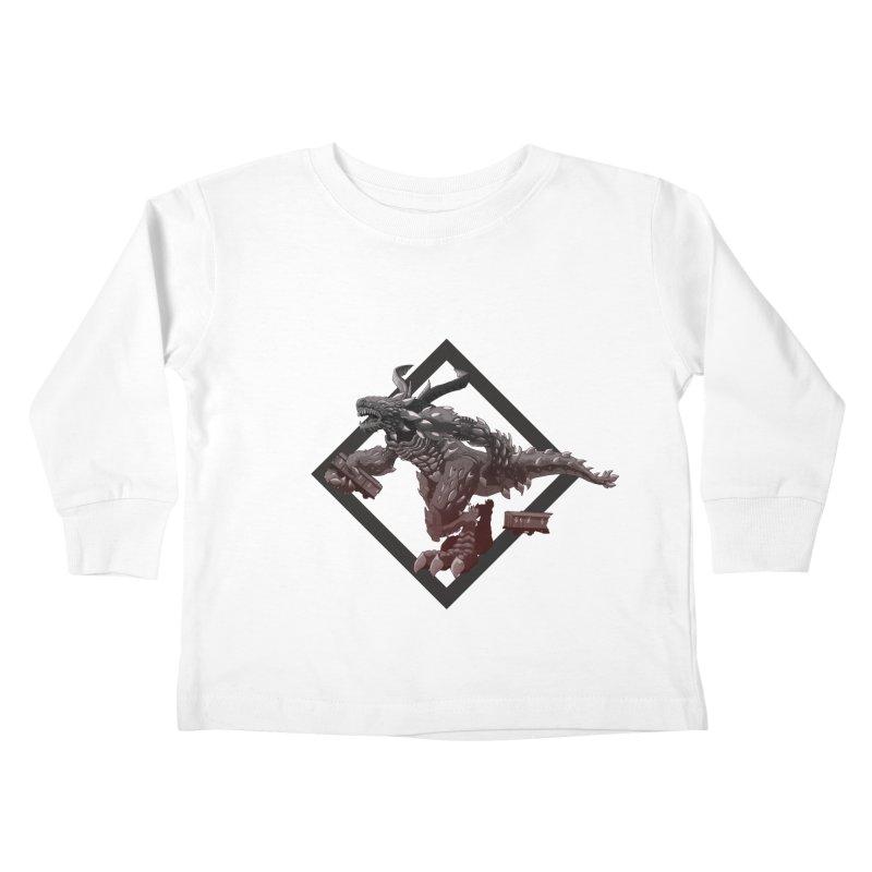 Kaiju Kids Toddler Longsleeve T-Shirt by erdavid's Artist Shop