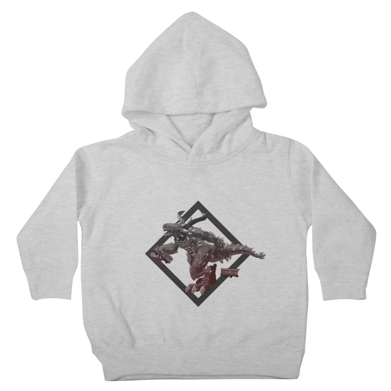 Kaiju Kids Toddler Pullover Hoody by erdavid's Artist Shop