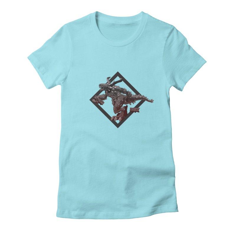 Kaiju Women's Fitted T-Shirt by erdavid's Artist Shop