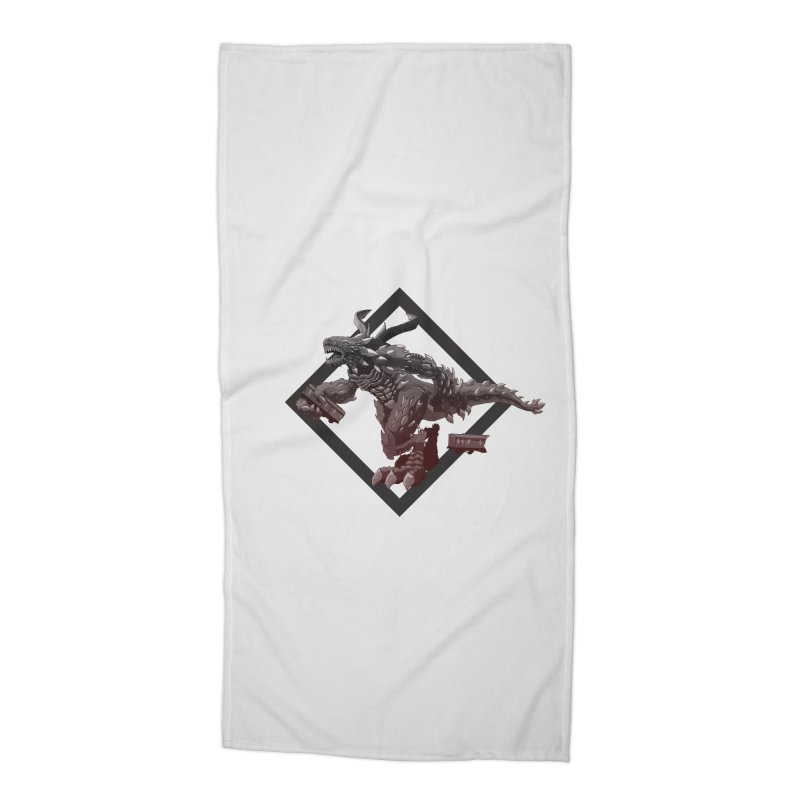 Kaiju Accessories Beach Towel by erdavid's Artist Shop
