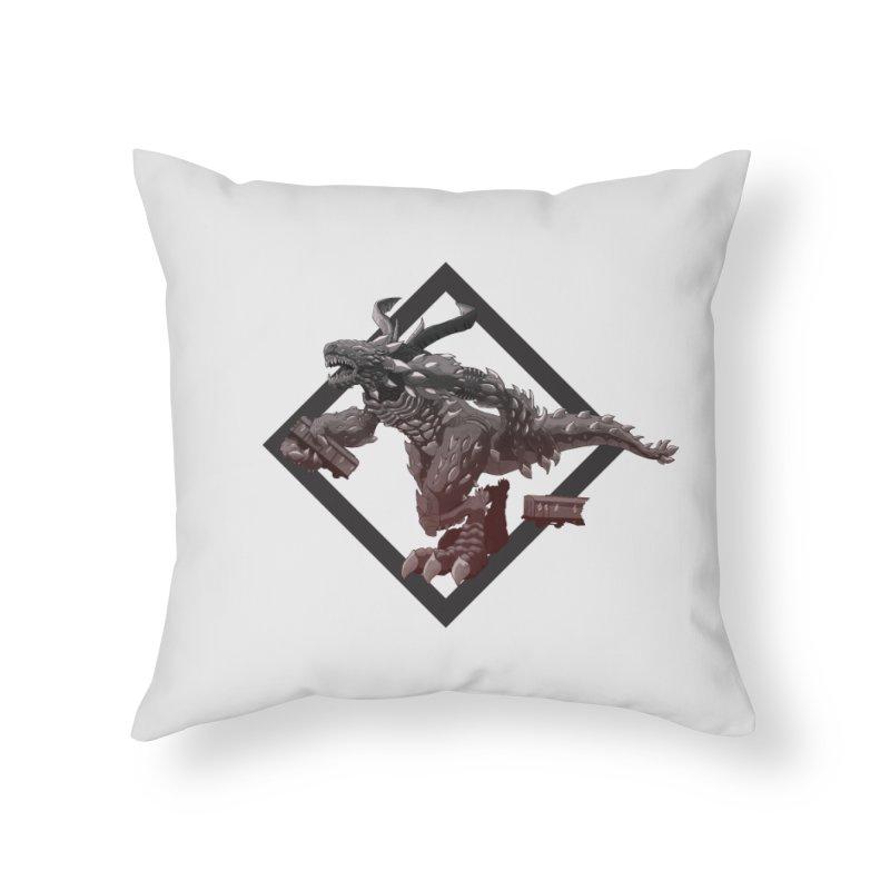 Kaiju Home Throw Pillow by erdavid's Artist Shop