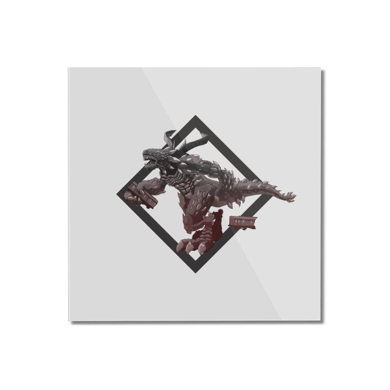 Kaiju Home Mounted Acrylic Print by erdavid's Artist Shop
