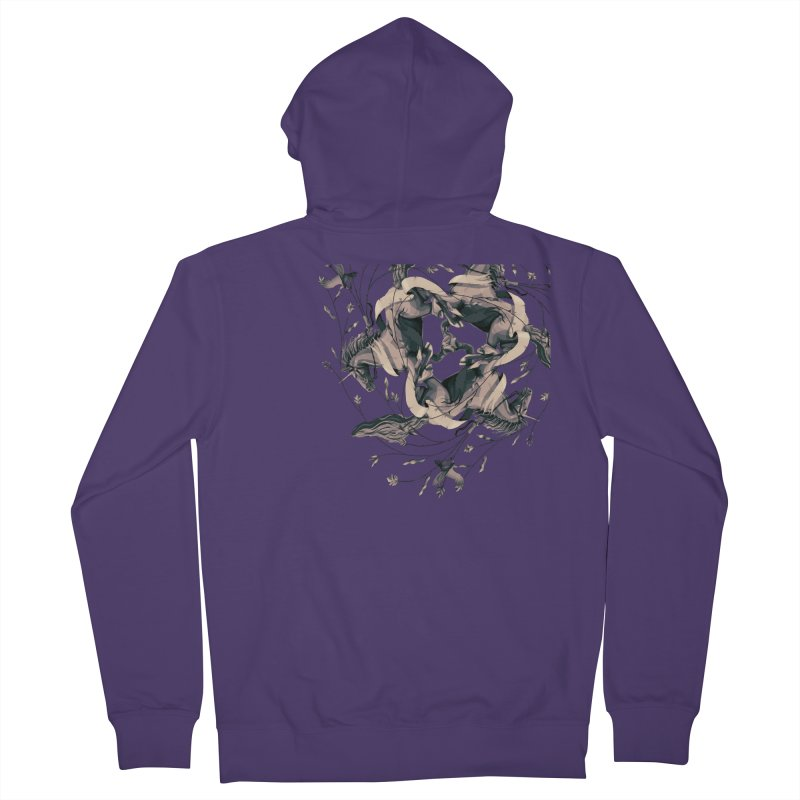 Horses Women's Zip-Up Hoody by erdavid's Artist Shop