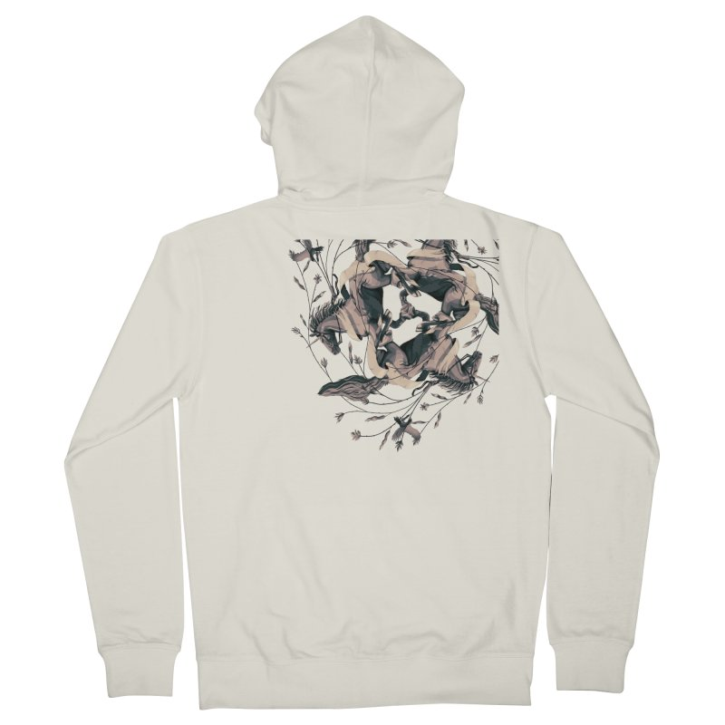 Horses Men's Zip-Up Hoody by erdavid's Artist Shop