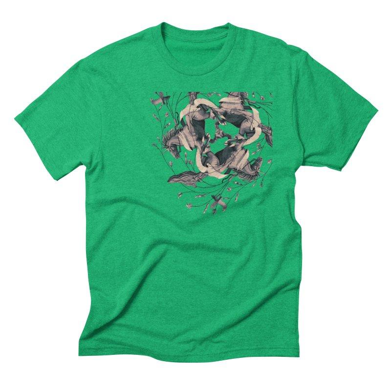 Horses Men's Triblend T-Shirt by erdavid's Artist Shop