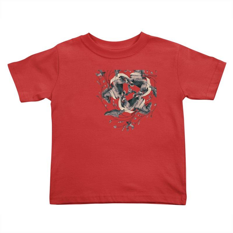 Horses Kids Toddler T-Shirt by erdavid's Artist Shop