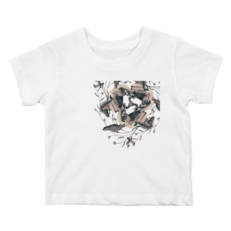 Horses Kids Baby T-Shirt by erdavid's Artist Shop