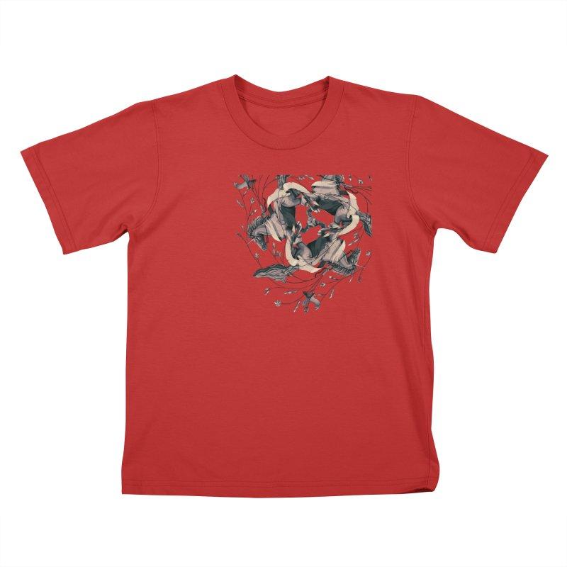 Horses Kids T-Shirt by erdavid's Artist Shop