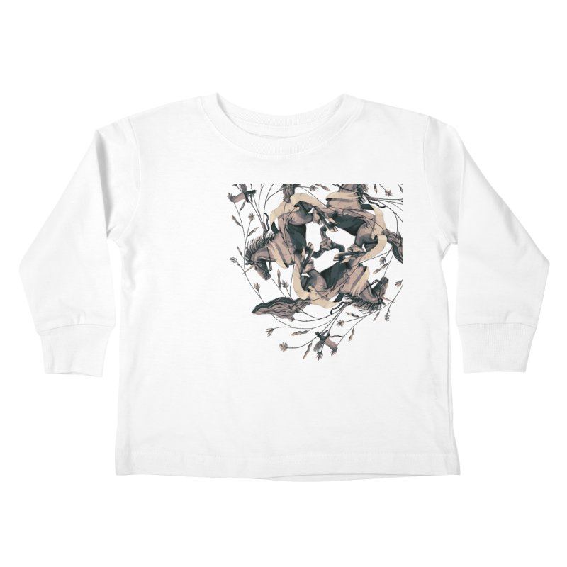 Horses Kids Toddler Longsleeve T-Shirt by erdavid's Artist Shop