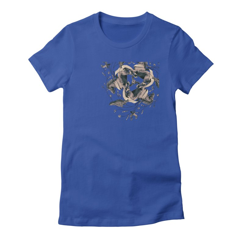 Horses Women's Fitted T-Shirt by erdavid's Artist Shop