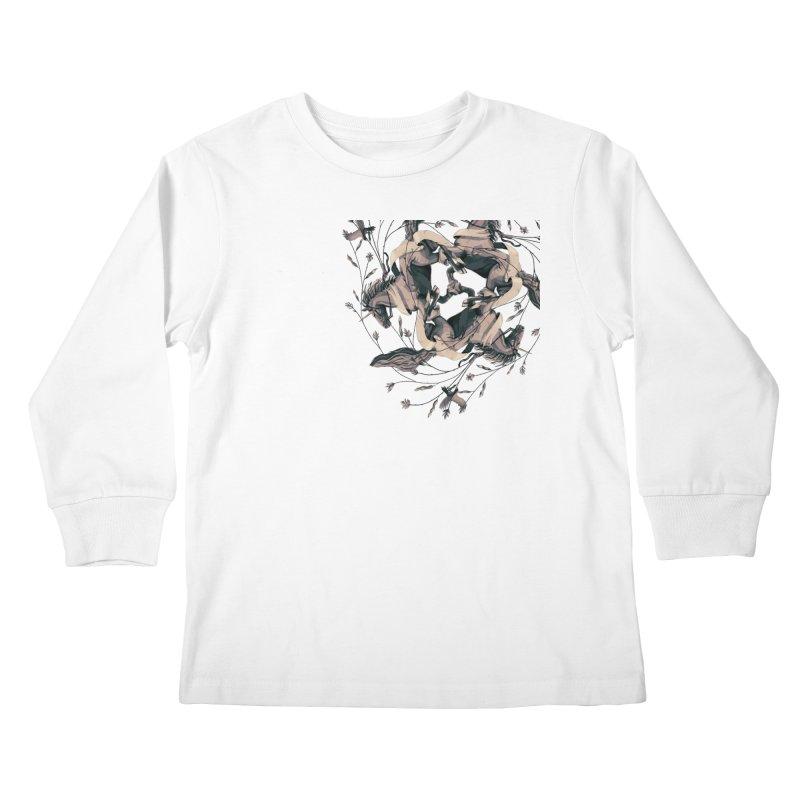 Horses Kids Longsleeve T-Shirt by erdavid's Artist Shop