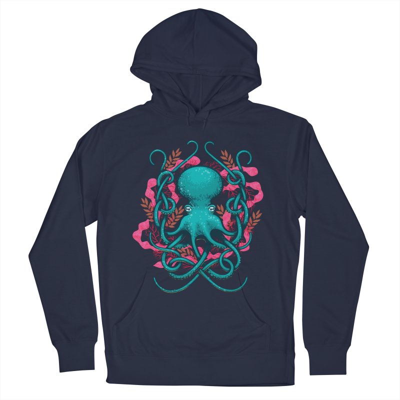Octupus and Coral Women's Pullover Hoody by erdavid's Artist Shop