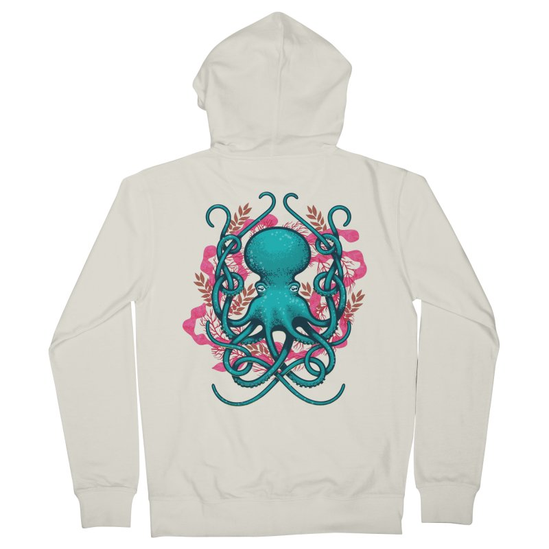 Octupus and Coral Women's Zip-Up Hoody by erdavid's Artist Shop