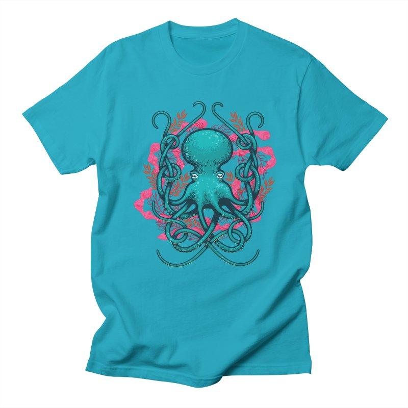 Octupus and Coral Men's T-shirt by erdavid's Artist Shop