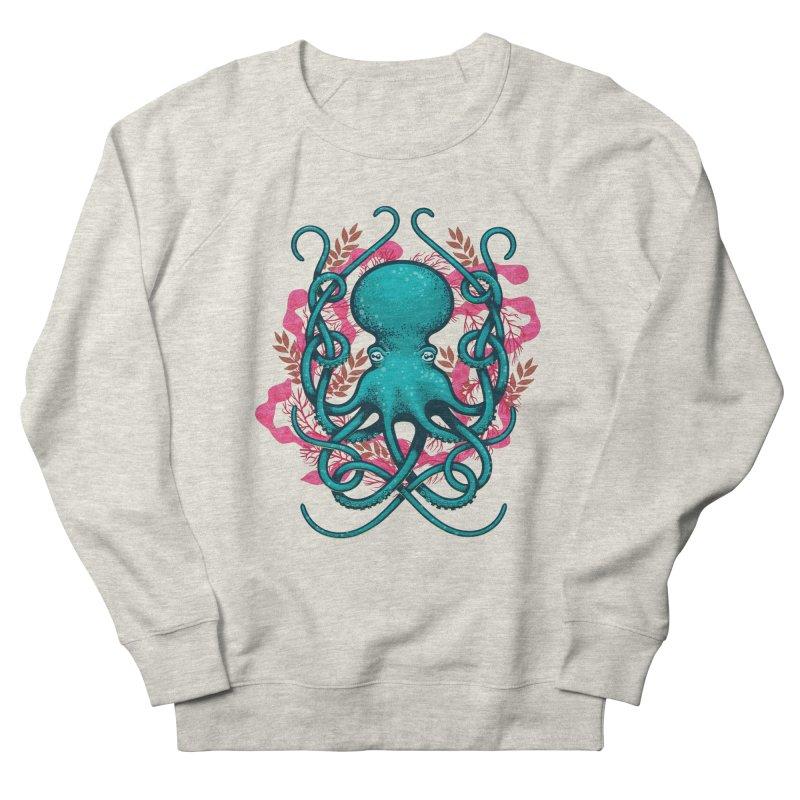 Octupus and Coral Women's Sweatshirt by erdavid's Artist Shop
