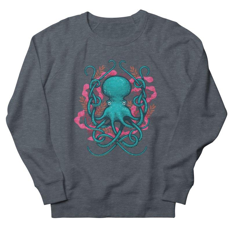 Octupus and Coral Men's Sweatshirt by erdavid's Artist Shop