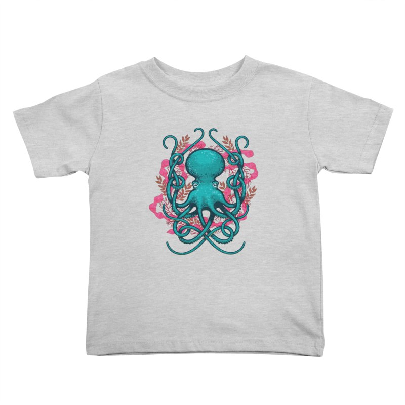 Octupus and Coral Kids Toddler T-Shirt by erdavid's Artist Shop