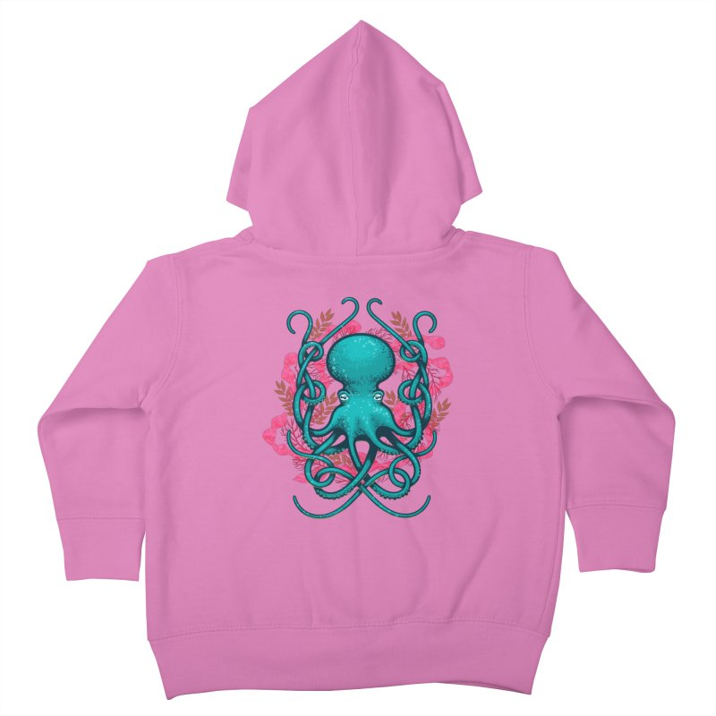 Octupus and Coral Kids Toddler Zip-Up Hoody by erdavid's Artist Shop