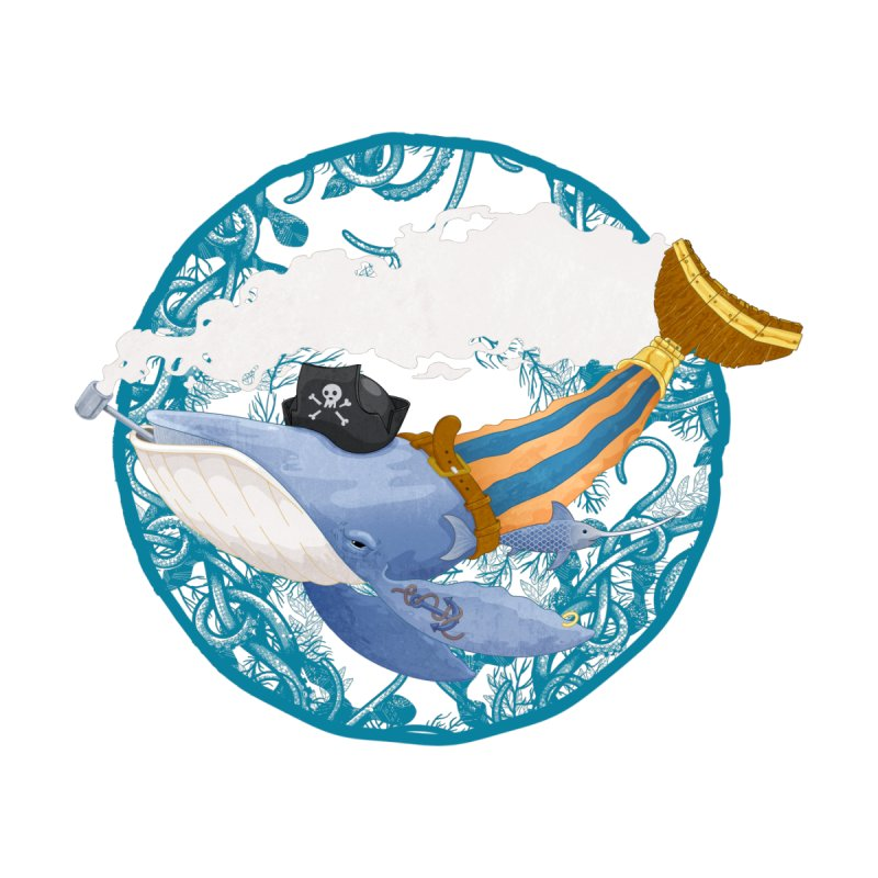Pirate Whale by erdavid's Artist Shop