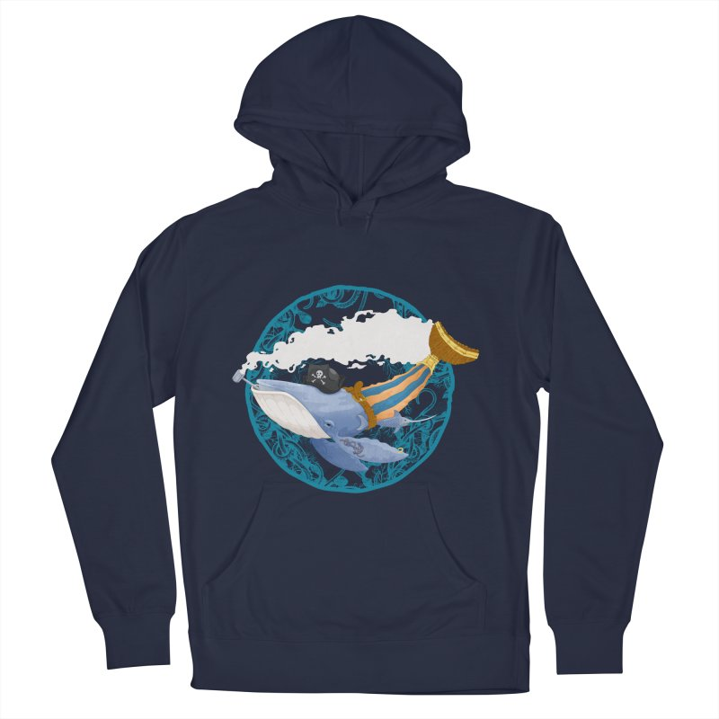 Pirate Whale Women's Pullover Hoody by erdavid's Artist Shop