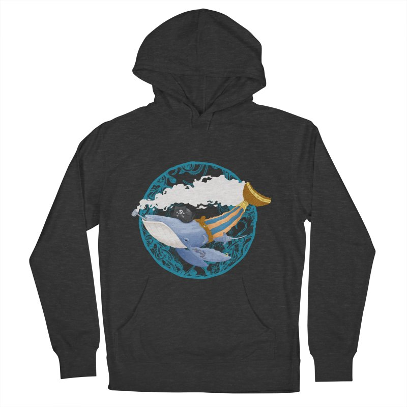 Pirate Whale Men's Pullover Hoody by erdavid's Artist Shop