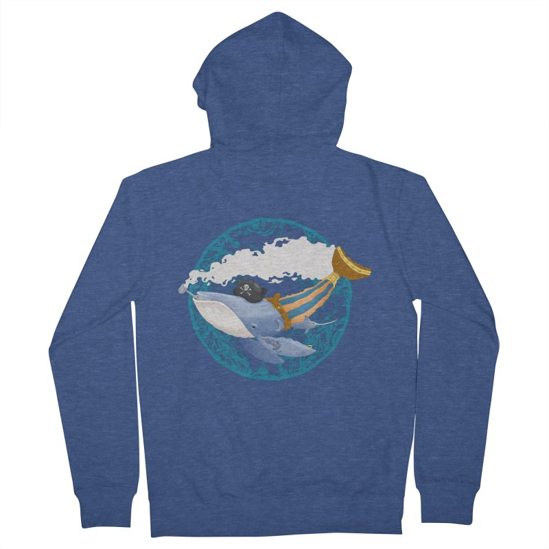 Pirate Whale Women's Zip-Up Hoody by erdavid's Artist Shop