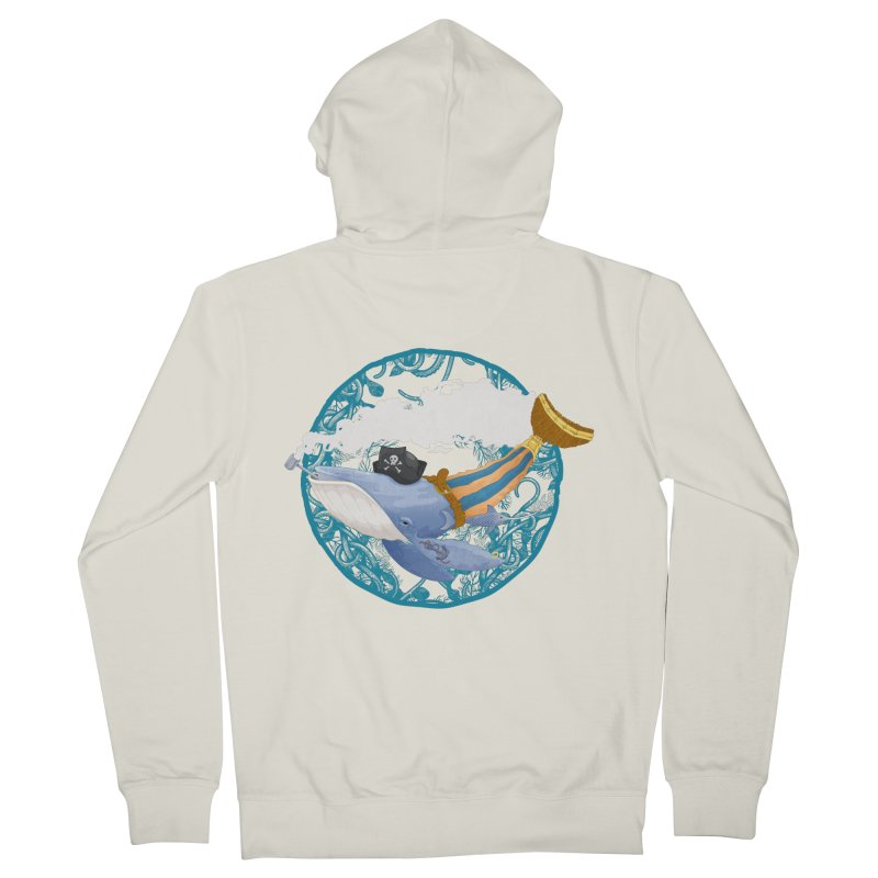 Pirate Whale Men's Zip-Up Hoody by erdavid's Artist Shop