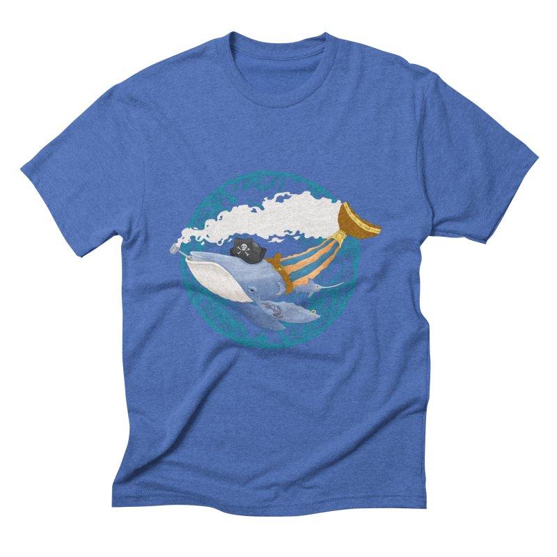 Pirate Whale Men's Triblend T-Shirt by erdavid's Artist Shop