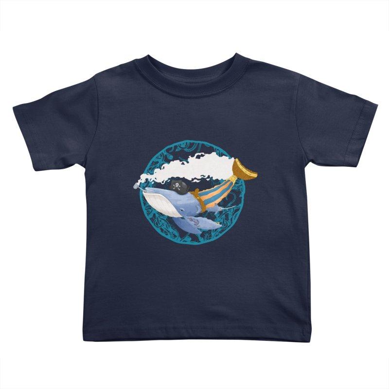 Pirate Whale Kids Toddler T-Shirt by erdavid's Artist Shop