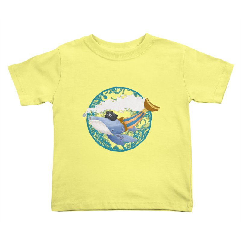 Pirate Whale Kids Toddler T-Shirt by erdavid's Artist Shop
