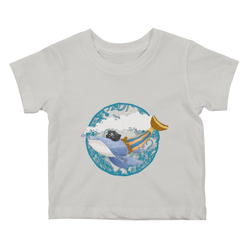 Pirate Whale Kids Baby T-Shirt by erdavid's Artist Shop