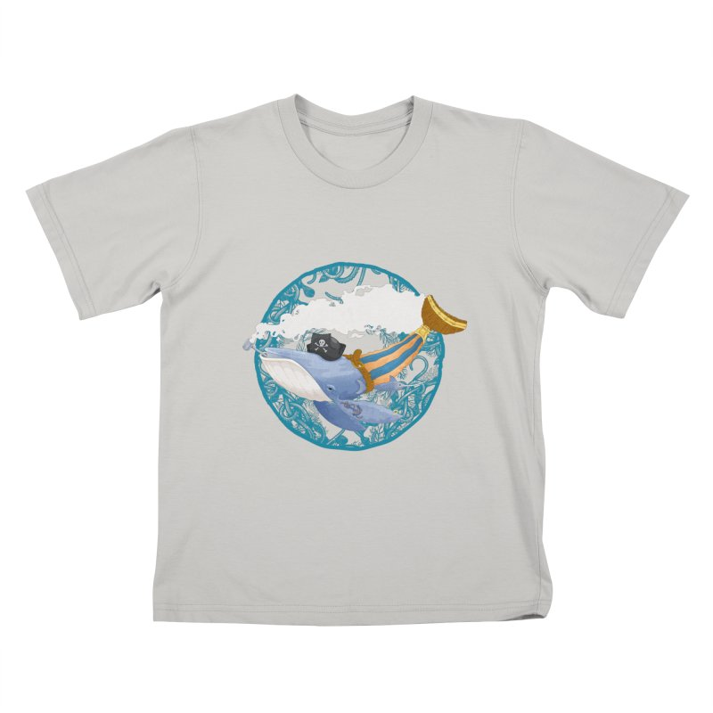 Pirate Whale Kids T-shirt by erdavid's Artist Shop
