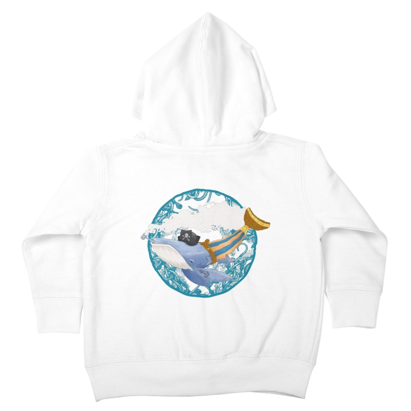 Pirate Whale Kids Toddler Zip-Up Hoody by erdavid's Artist Shop