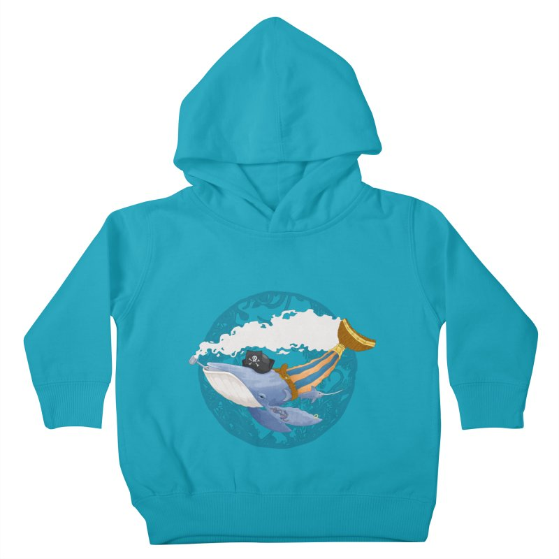 Pirate Whale Kids Toddler Pullover Hoody by erdavid's Artist Shop