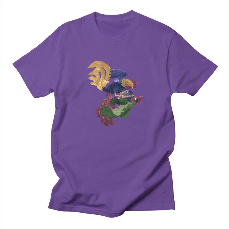 Roosters Men's T-shirt by erdavid's Artist Shop