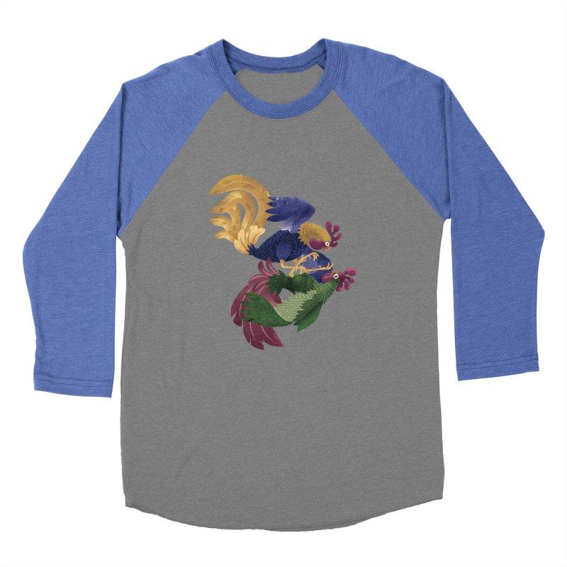 Roosters Women's Baseball Triblend T-Shirt by erdavid's Artist Shop