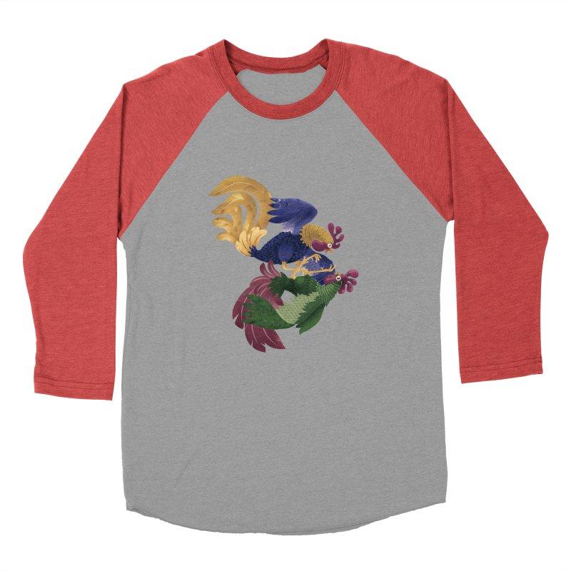 Roosters Men's Baseball Triblend T-Shirt by erdavid's Artist Shop