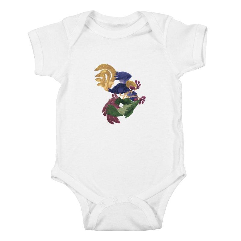 Roosters Kids Baby Bodysuit by erdavid's Artist Shop