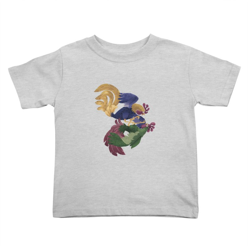 Roosters Kids Toddler T-Shirt by erdavid's Artist Shop